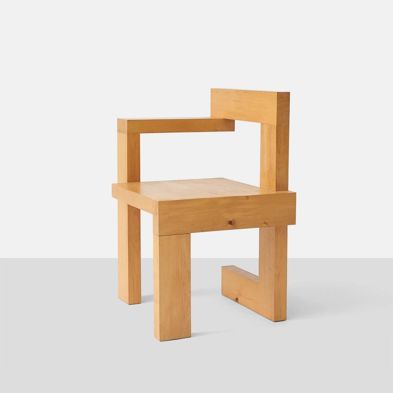 Gerrit rietveld furniture - Gerrit Rietveld Steltman Chairs At 1stdibs