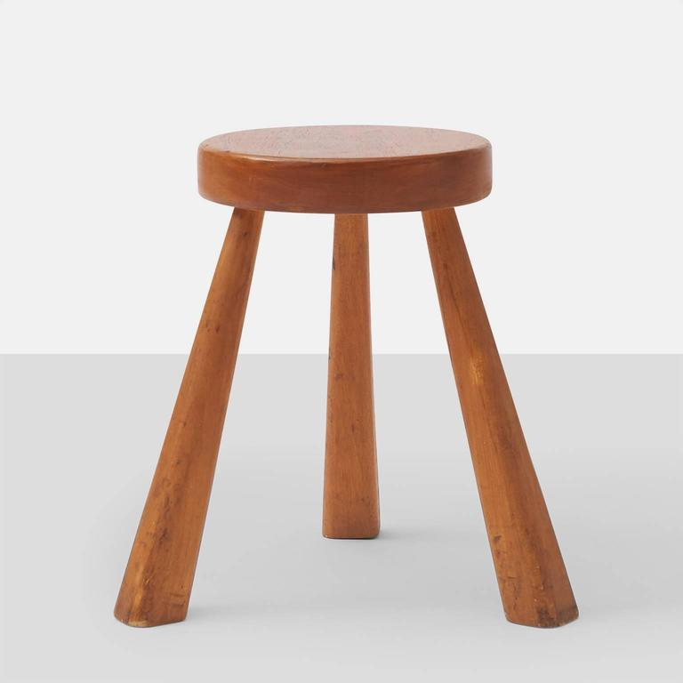 Mid-Century Modern Charlotte Perriand Stools for Les Arcs For Sale