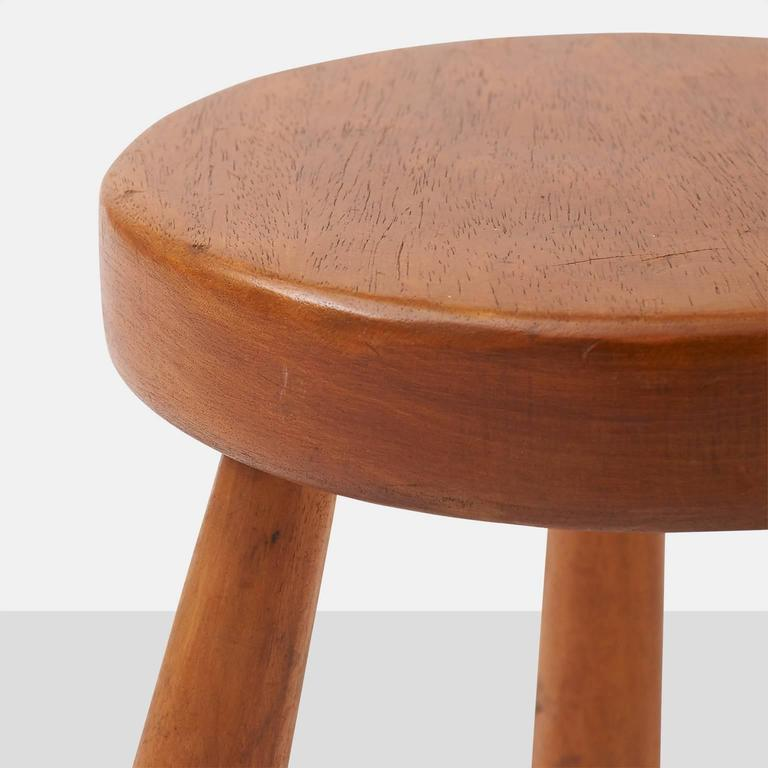 French Charlotte Perriand Stools for Les Arcs For Sale
