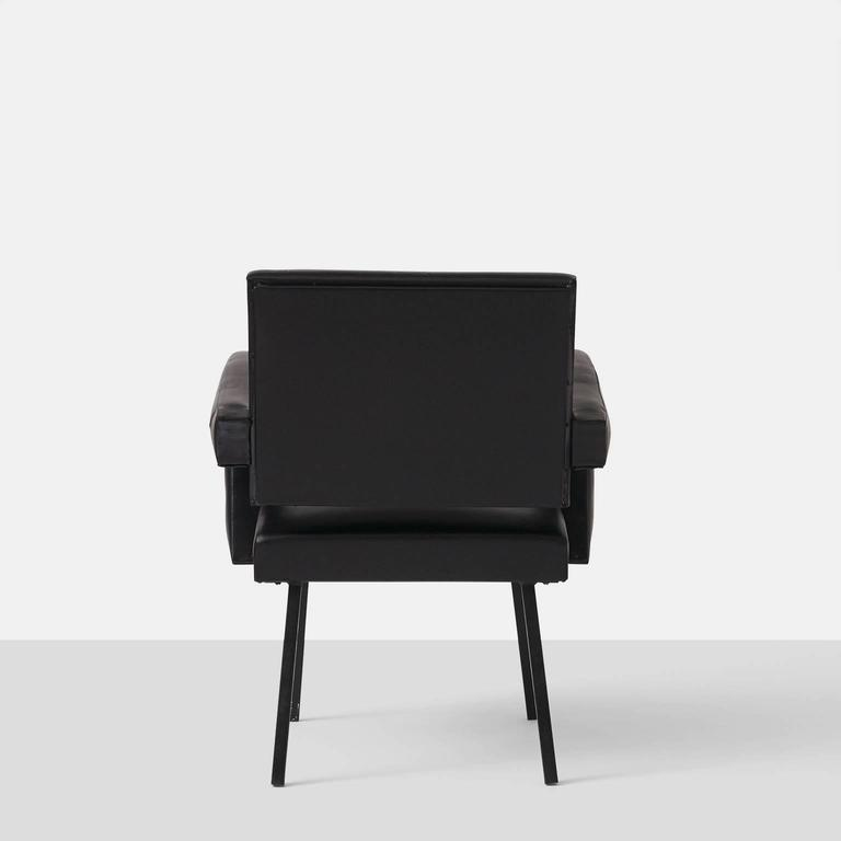 Enameled Jacques Adnet Armchair