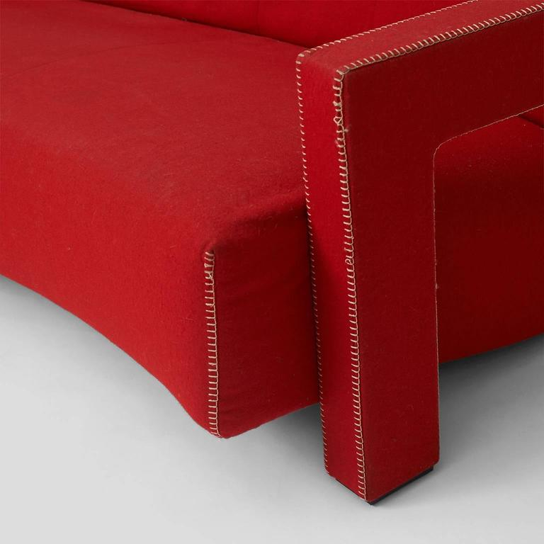 Fabric Utrecht Sofa by Gerrit Rietveld by Cassina For Sale