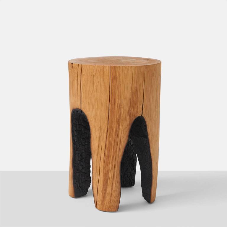 Organic Modern Ausgebrannt Stools by Kaspar Hamacher For Sale
