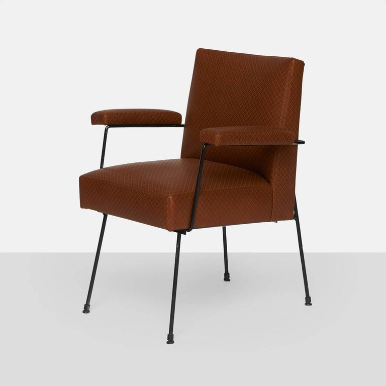 Modern Dining Chairs by Milo Baughman for Pacific Iron For Sale