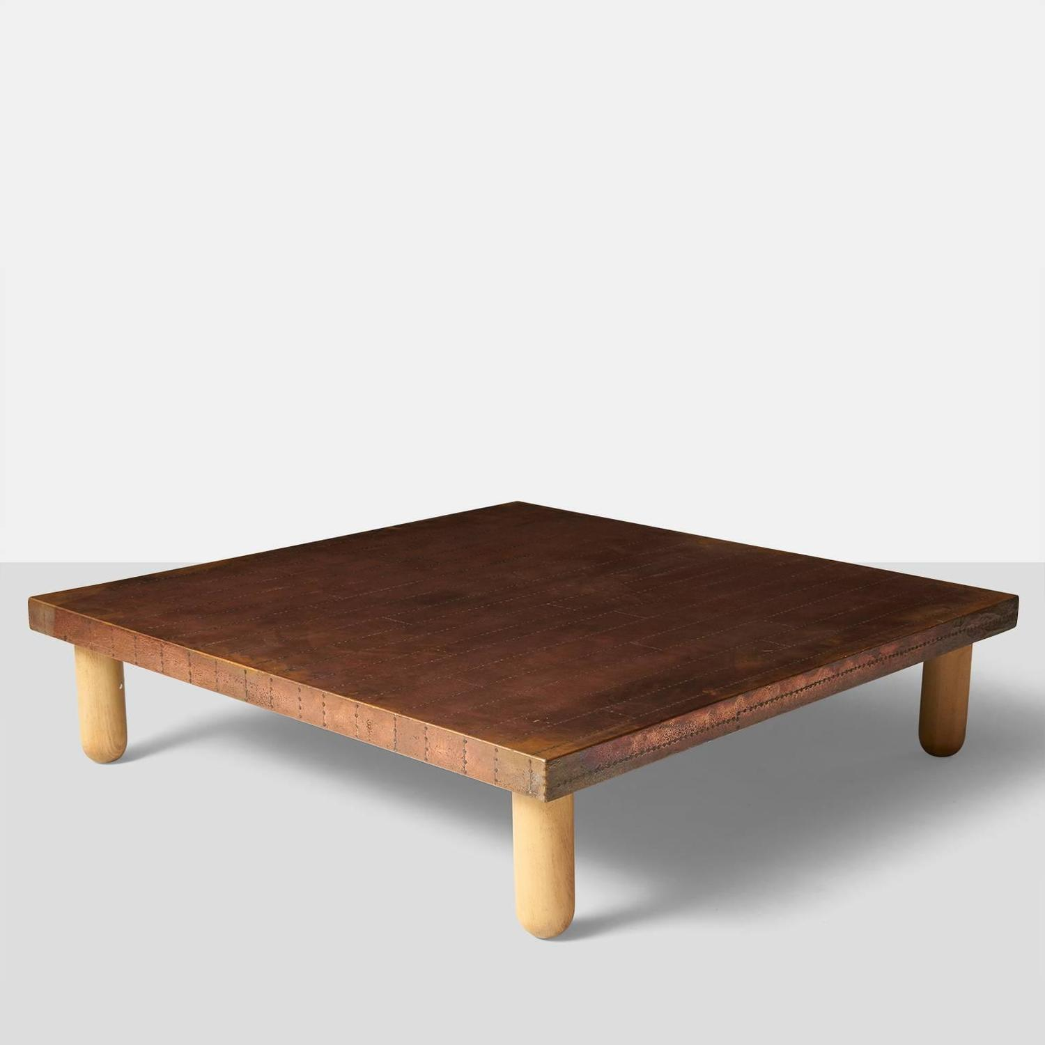 Copper Coffee Table By Lorenzo Burchiellaro For Sale At 1stdibs