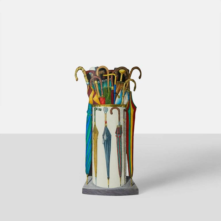 Italian Umbrella Stand by Piero Fornasetti For Sale