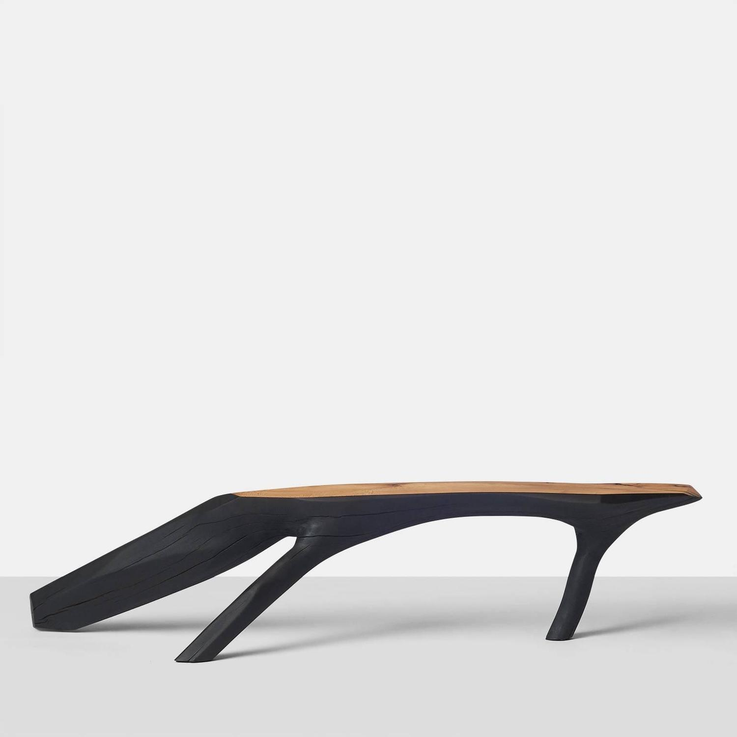 Kaspar Hamacher Small Black And White Bench For Sale At