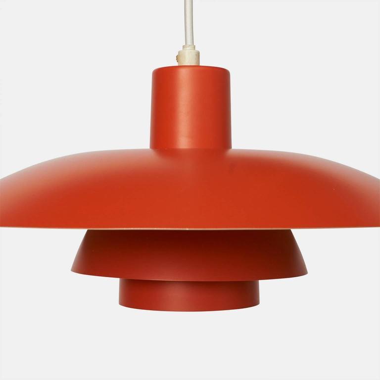 Danish Orange Pendant Ph-4/3 by Poul Henningsen For Sale