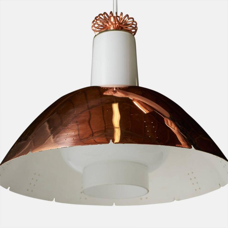Scandinavian Modern Copper Pendant by Paavo Tynell Model #K2-20 For Sale