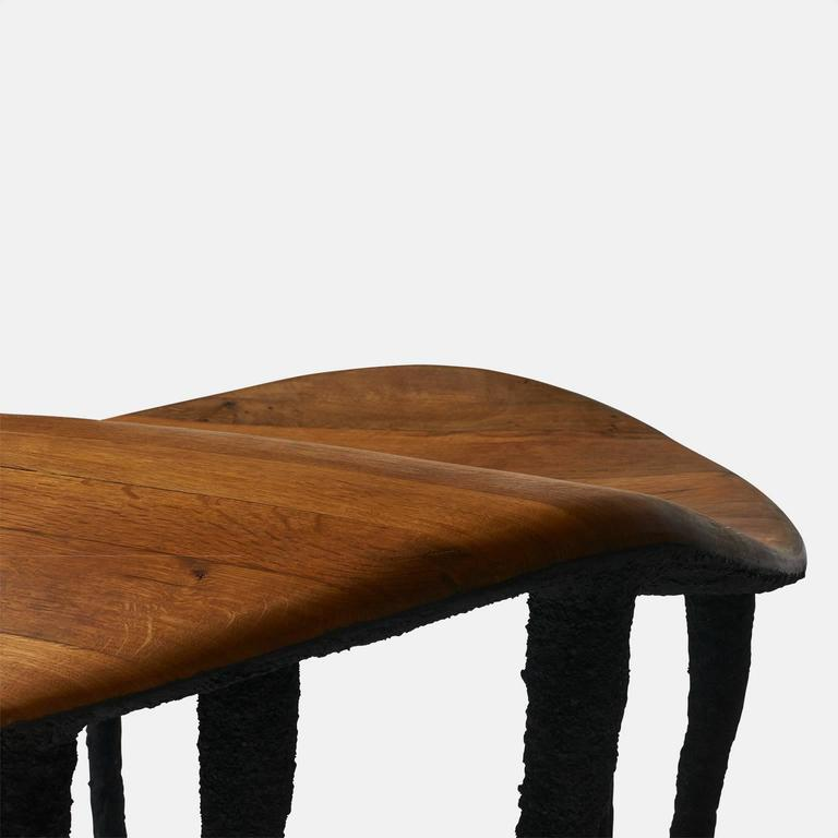 Oak Bended Center Table by Valentin Loellmann For Sale