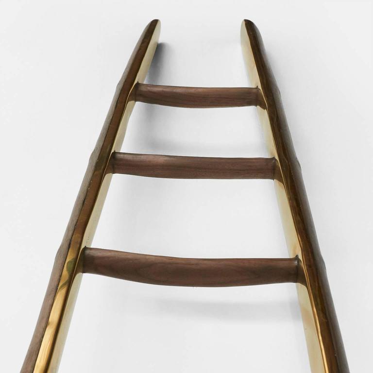 Organic Modern Ladder in Brass by Valentin Loellmann For Sale