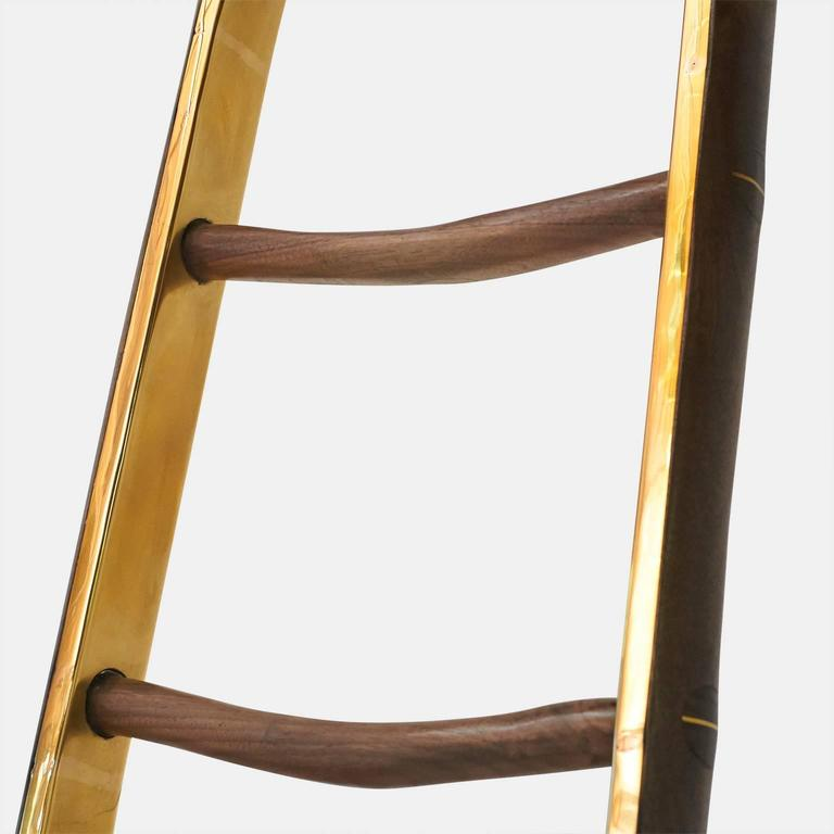 Contemporary Ladder in Brass by Valentin Loellmann For Sale