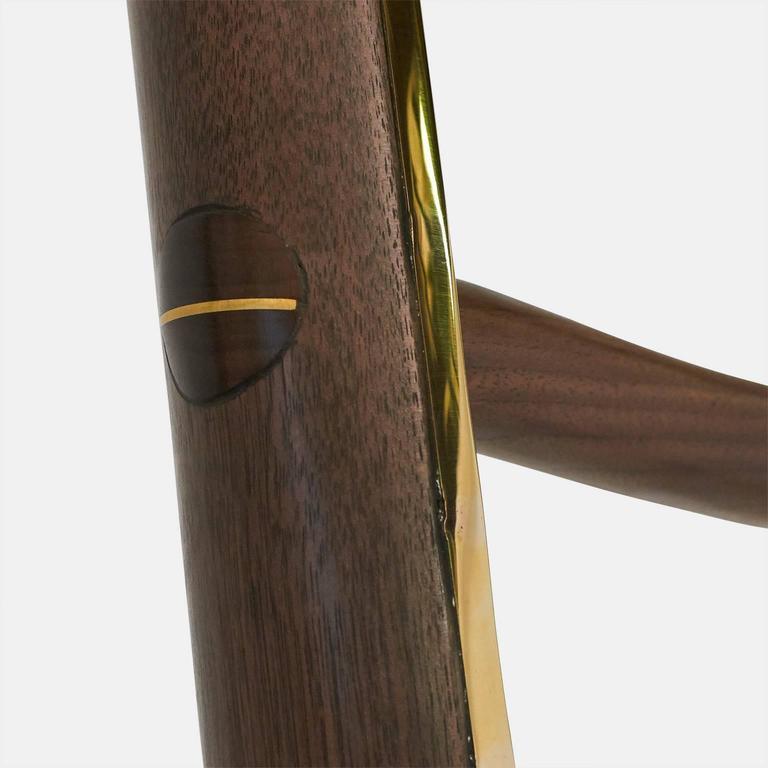 Walnut Ladder in Brass by Valentin Loellmann For Sale