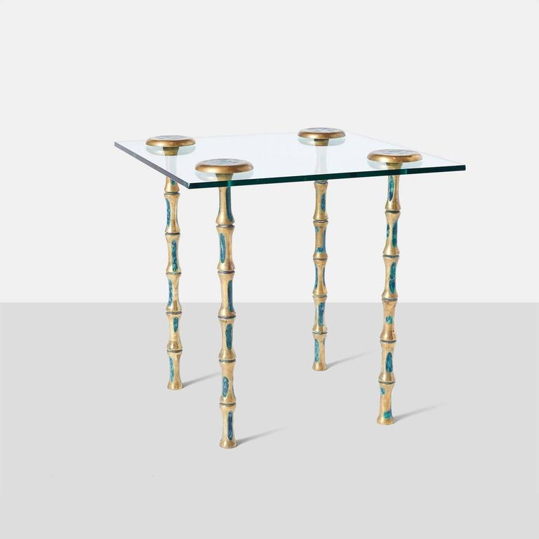 Mid-Century Modern Pair of Side Tables by Pepe Mendoza For Sale