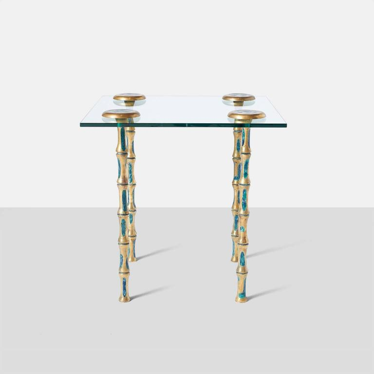 Mexican Pair of Side Tables by Pepe Mendoza For Sale