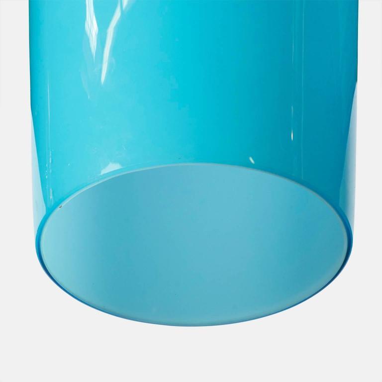 Italian Chandelier in Blue Murano Glass by Gino Vistosi For Sale
