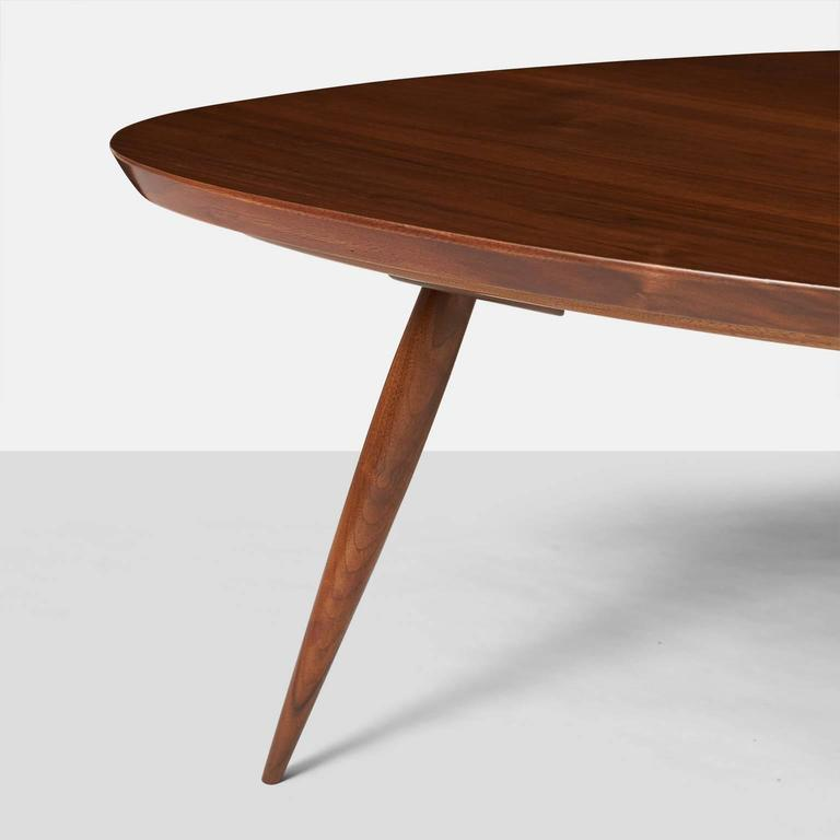 Walnut Phillip Lloyd Powell Coffee Table For Sale
