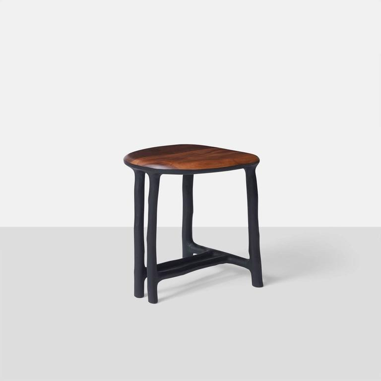 Contemporary Stool in Walnut by Valentin Loellmann For Sale
