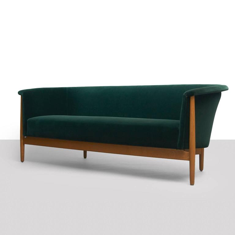 Nanna ditzel curved arm sofa for sale at 1stdibs for Sofa with only one arm
