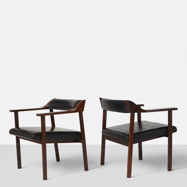 Pair of Lounge Chairs by Joaquim Tenreiro 2