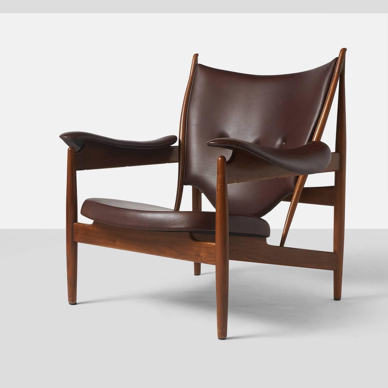 A Chieftain Chair By Finn Juhl Designed In 1951 And Manufactured By Baker  Furniture In The
