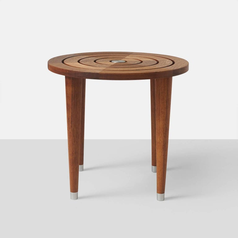 American Target Table in Solid Teak For Sale