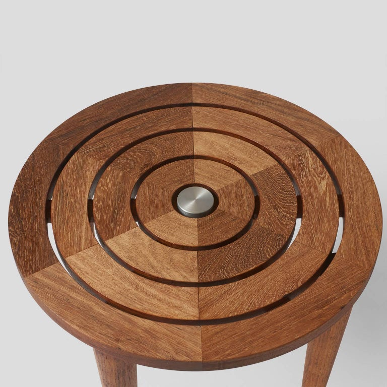 Target Table in Solid Teak In Excellent Condition For Sale In San Francisco, CA