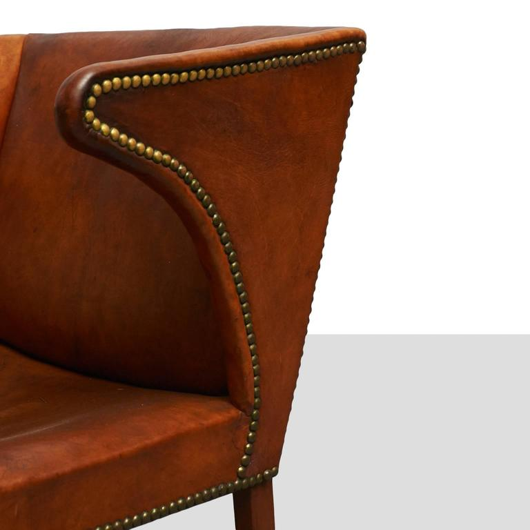 Leather Frits Henningsen Easy Chair For Sale
