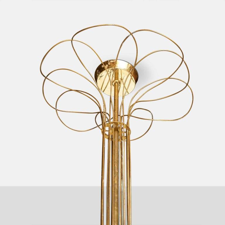 Scandinavian Modern Chandelier by Paavo Tynell For Sale