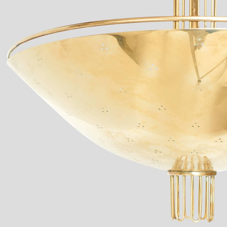 Mid-20th Century Chandelier by Paavo Tynell For Sale