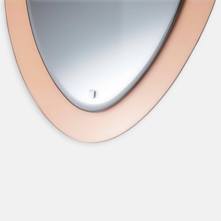 Italian Wall Mirror in the Art Deco Style In Excellent Condition For Sale In San Francisco, CA