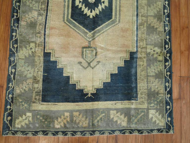Emerald Green Turkish Oushak Rug 3