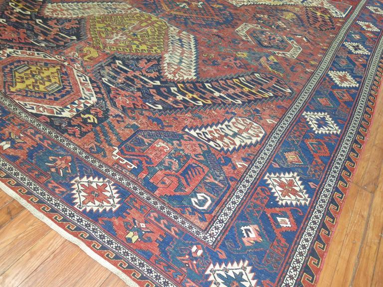 dragon soumak flat-weave rug for sale at 1stdibs