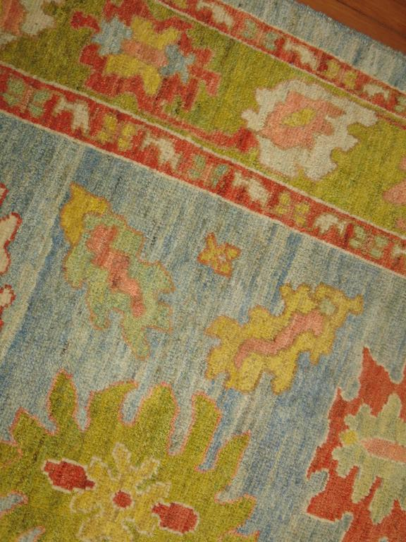 Turkish Oushak Carpet In Excellent Condition For Sale In New York, NY