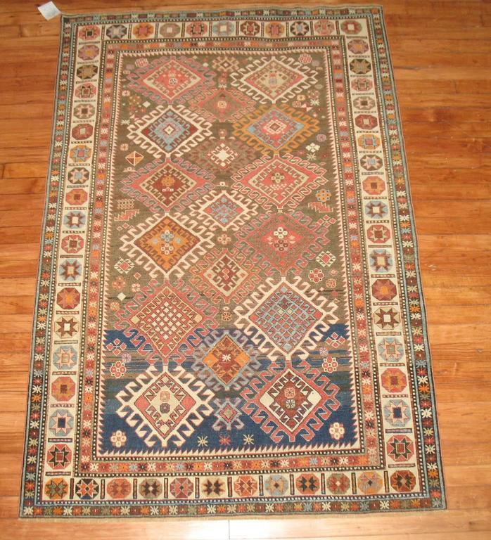 Decorative Antique Shirvan Caucasian Rug 8