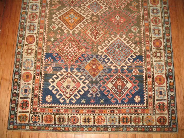 Decorative Antique Shirvan Caucasian Rug 3
