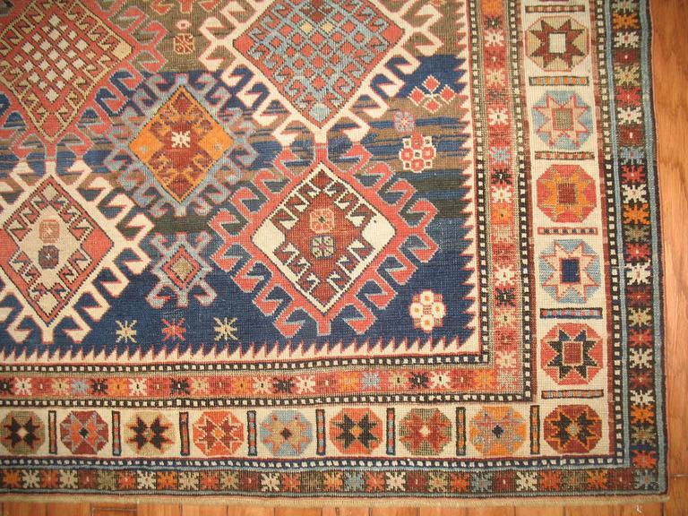 Decorative Antique Shirvan Caucasian Rug 4