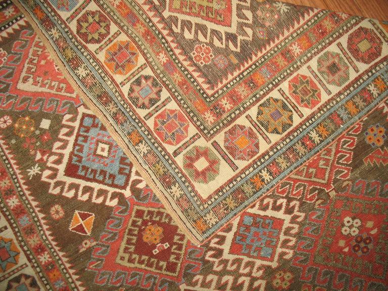 Decorative Antique Shirvan Caucasian Rug 5
