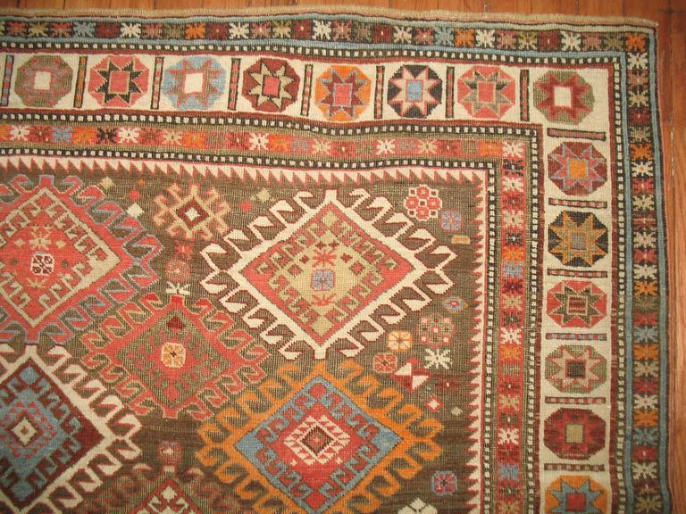 Decorative Antique Shirvan Caucasian Rug 6