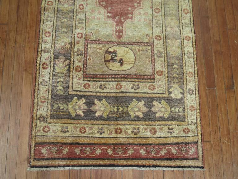 Turkish Lion Pictorial Runner For Sale At 1stdibs