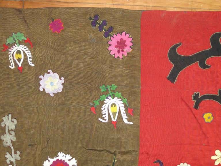 20th Century Vintage Uzbek Textile Embroidery For Sale
