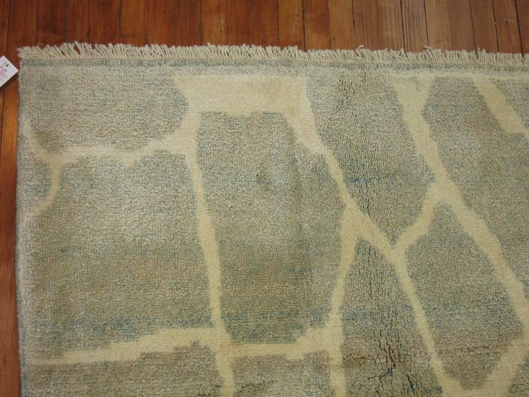 Wool Turkish Modernist Rug For Sale