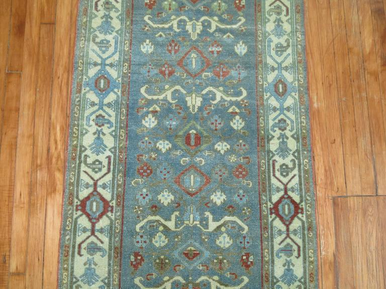 Hand-Knotted Persian Malayer Long Runner For Sale