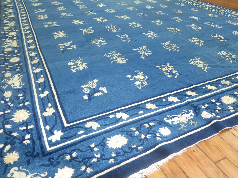Blue Antique Chinese Peking Room Size Carpet At 1stdibs