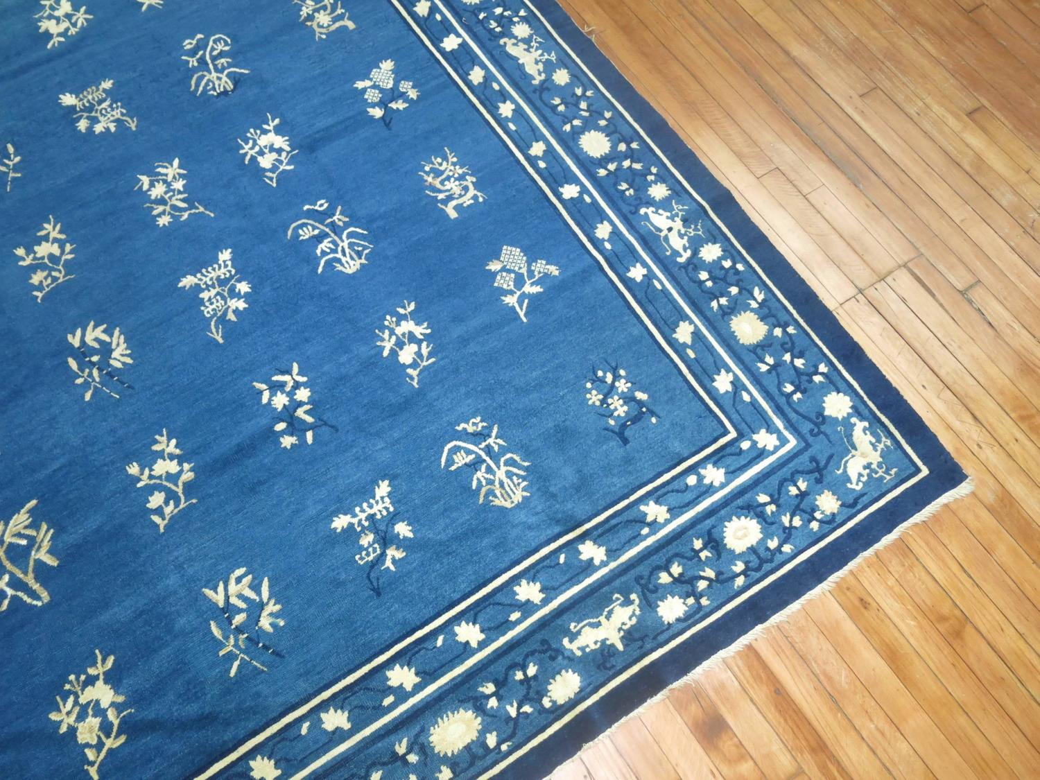 Blue Antique Chinese Peking Room Size Carpet At 1stdibs