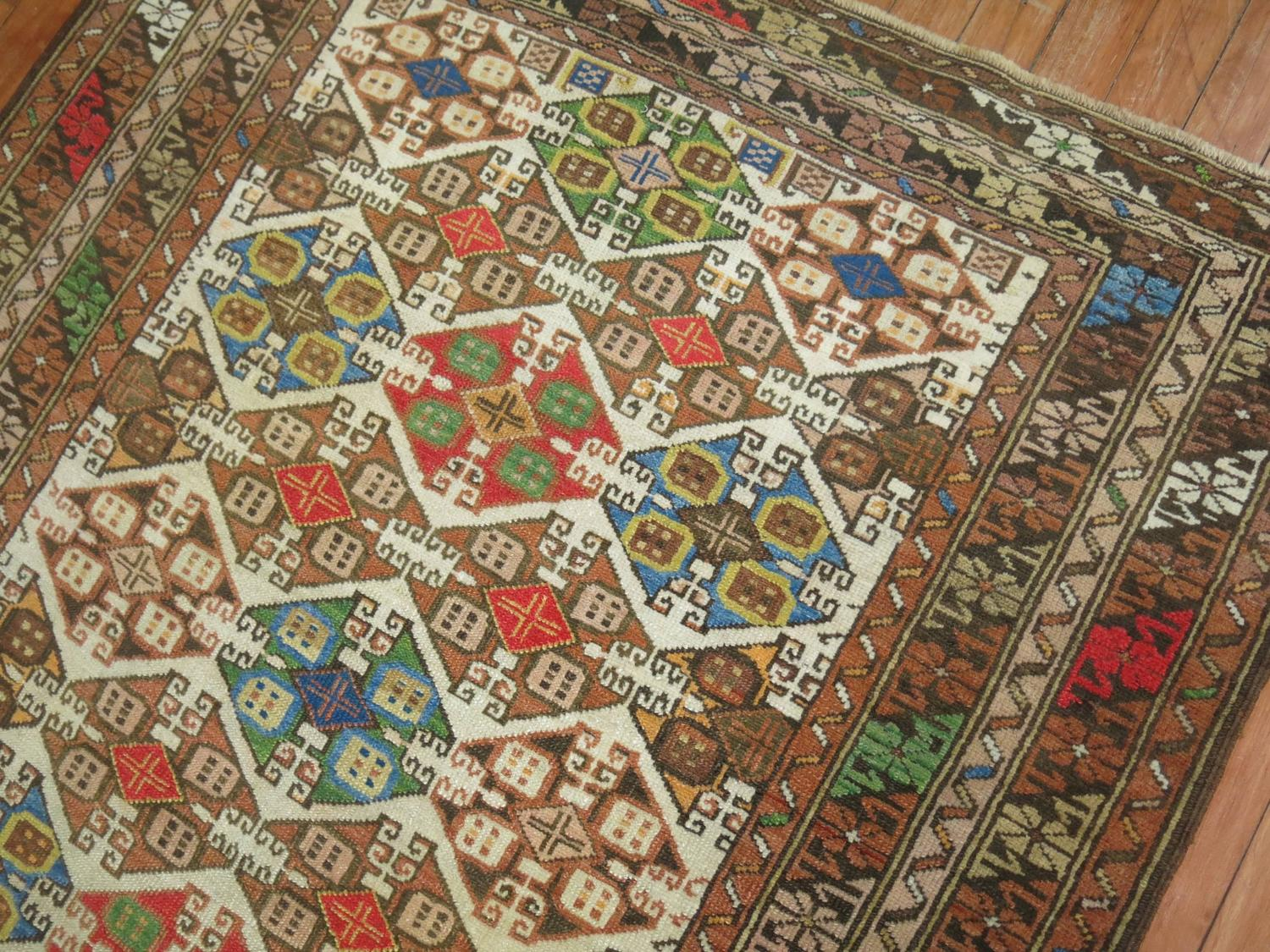 Colorful Antique Caucasian Rug For Sale At 1stdibs