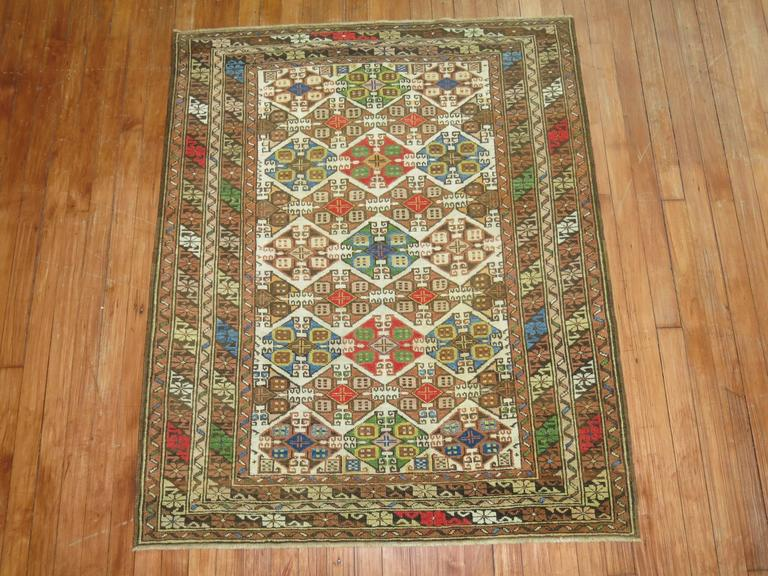 Colorful antique caucasian rug for sale at 1stdibs for Colorful rugs for sale