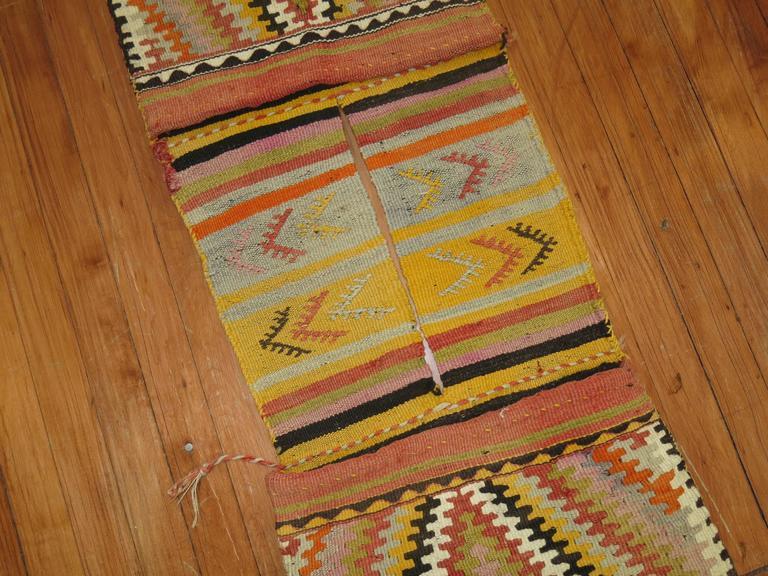 Bag Face Kilim Textile Rug Hanging For Sale At 1stdibs