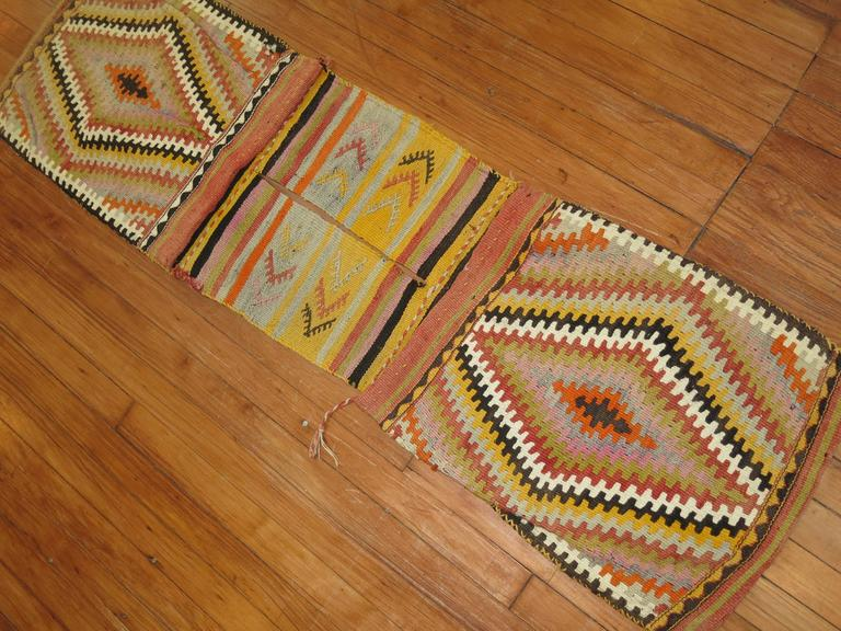 Bag Face Kilim Textile Rug Hanging For Sale At 1stdibs