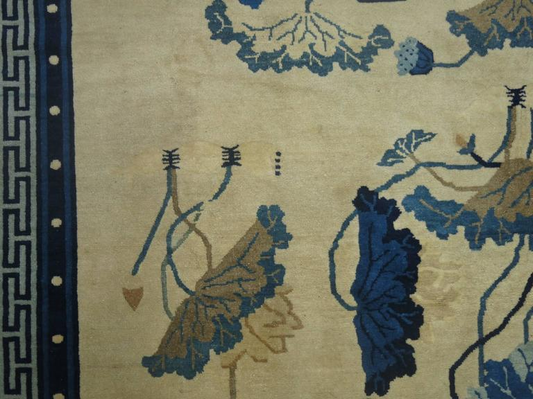 Chinese Chippendale Antique Chinese Peking Rug For Sale