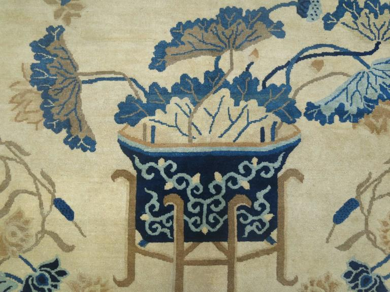 20th Century Antique Chinese Peking Rug For Sale